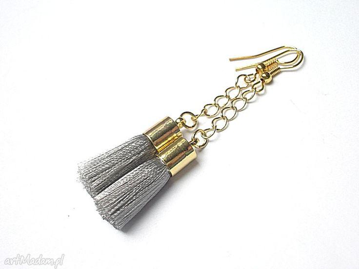 • kolczyki, biżuteria - boho grey 103 kolczyki - Ki Ka