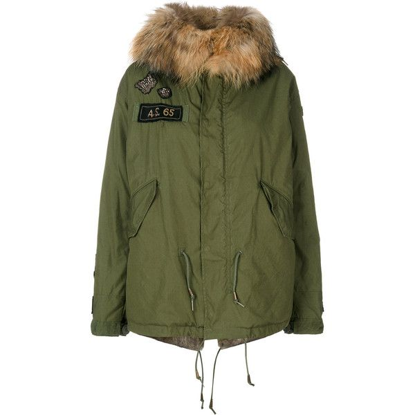 As65 rabbit fur hooded jacket ($3,828) ❤ liked on Polyvore featuring outerwear, jackets, green, green leather jacket, green jacket, genuine leather jackets, leather jackets and 100 leather jacket
