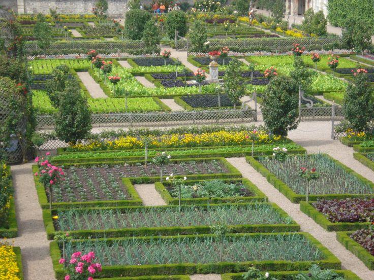 Garden of vegetable parterres Chateau de Villandry