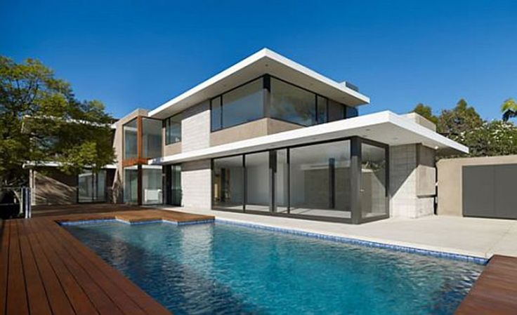 Pool outdoor-pool-house-designs-and-architecture-modernity-and-luxurious-l-shaped-house-design 27 Aweome Picture of Pool House Designs