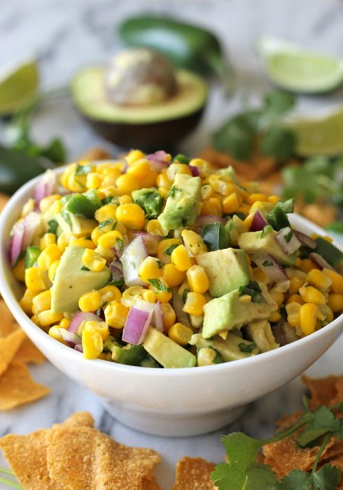 Avocado Corn Salsa Great as a topping for black beans or to add an extra kick to a grilled veggie wrap