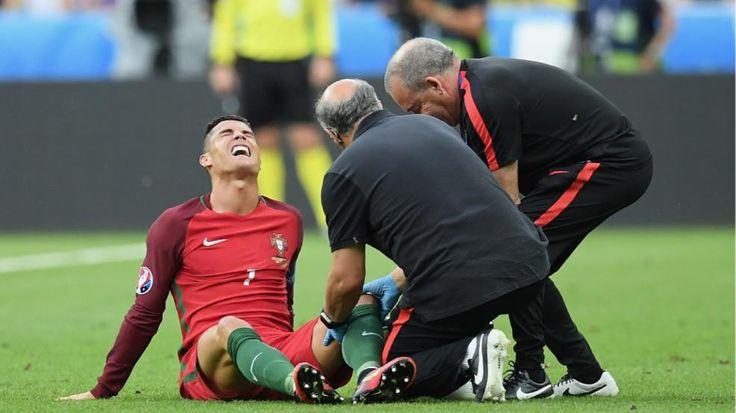 EM-Finale Frankreich - Portugal! Tränen-Drama! Cristiano Ronaldo vom Platz getragen - Fussball - Bild.de