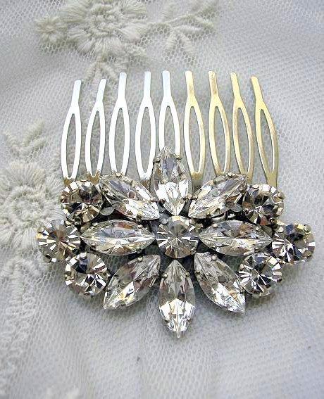 Wedding hair accessories Bridal hair comb  royal vintage by Hinuma, $32.00