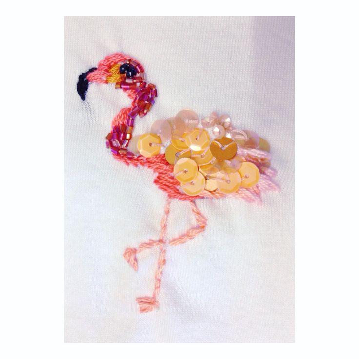 Flamingo embroidery INTERNODICIOTTO