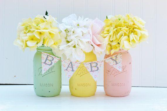 Mason Jar Baby Shower Decoration