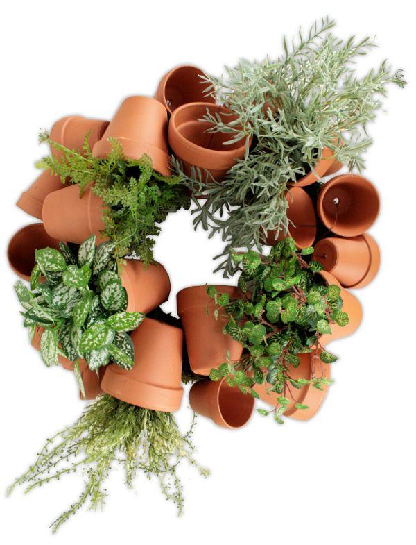 Clay Pots Wreath