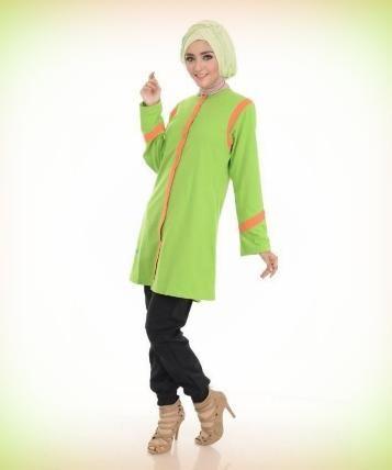 Beli Baju Atasan Wanita Tunik ALNITA AA01 Hijau Pupus dari Aprilia Wati agenbajumuslim - Sidoarjo hanya di Bukalapak