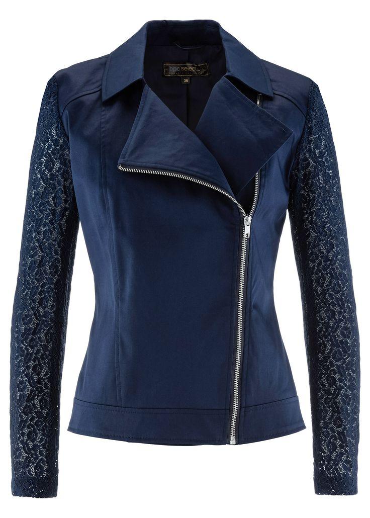 Blazer com mangas de renda azul-escuro encomendar agora na loja on-line bonprix.de  R$ 189,00 a partir de Blazer moderno, com mangas de renda finas, ...