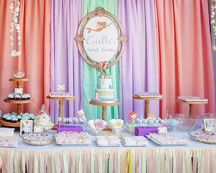 This whimsical mermaid birthday party was thrown by Pamela Clavejo of Pamie's Party Prints. This girly unde...