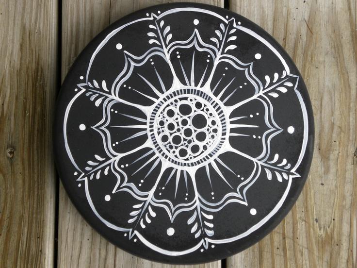 Mandala, Garden Stepping stone, Gifts under 50. $35.00, via Etsy.