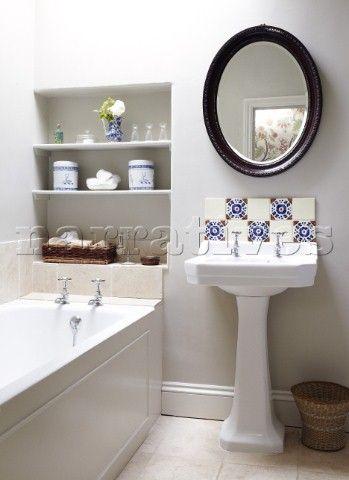 Luxury Mirrors Above Pedestal Sink