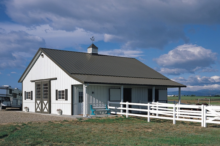 97 best images about small horse barn on pinterest for Morton building plans