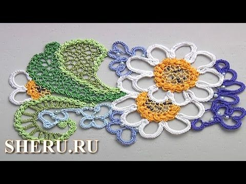 Ирландские кружева Урок 12 часть 1 из 2 Crochet Irish Lace - YouTube
