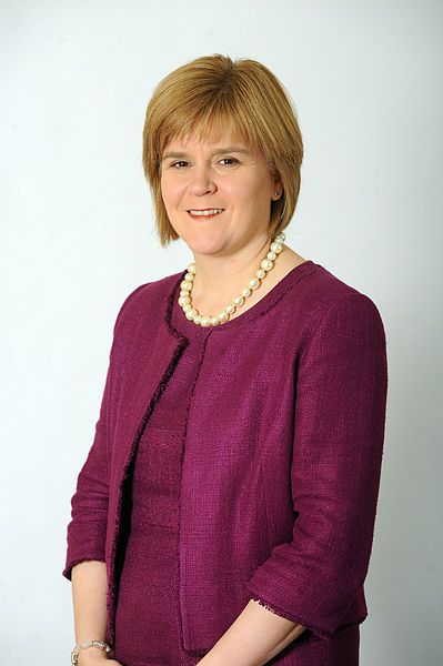 Nicola Sturgeon, Leader of the Scottish National Party and First Minister of Scotland.