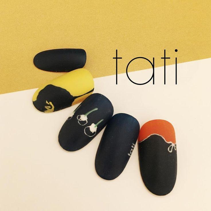 いいね!1,349件、コメント7件 ― tati 竹原千晴さん(@tati_nail)のInstagramアカウント: 「前にあったデザインを色違いで作りました◡̈♥︎ 差し色が可愛くてたまりません〜〜。 ・ ・ #nailart #nails#naildesign #design #art #gelnail…」