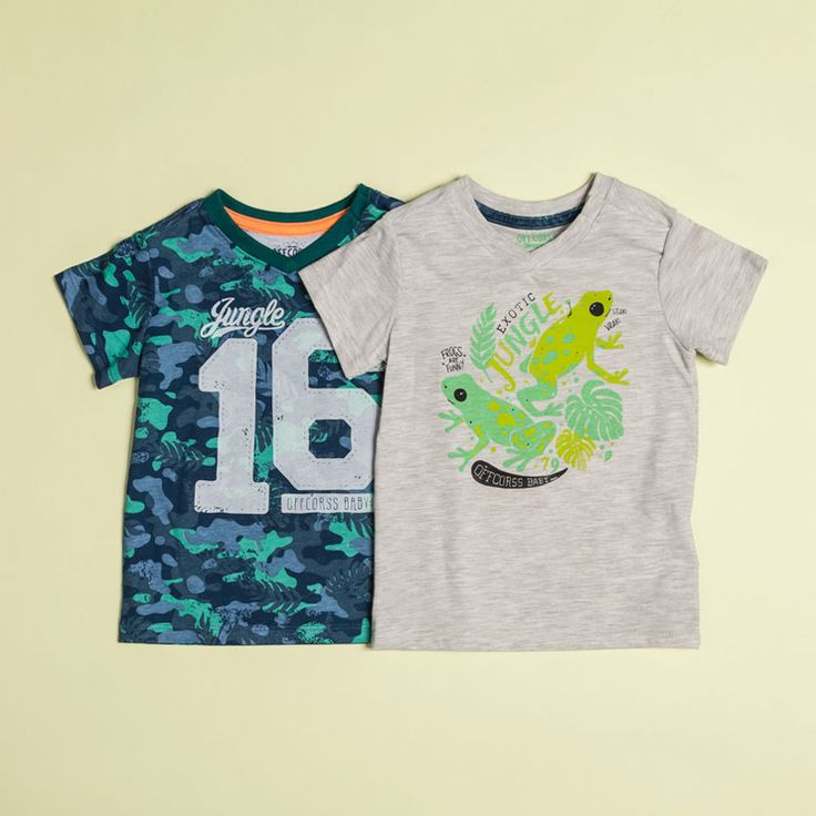 T-shirts with animal prints jungle for baby boy #jungle #littlekids #selva @OFFCORSS