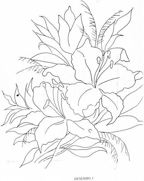 Amei esta arte, aproveito para compartilhar os riscos contendo flores e rosas que selecionei para meus próximos trabalhos artesanais, com ce...