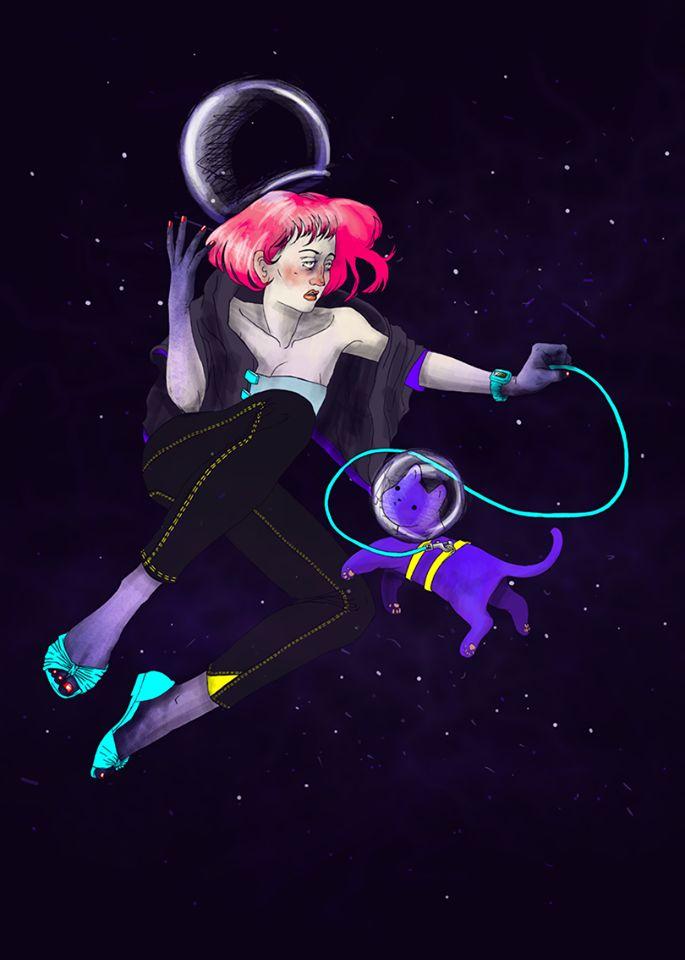 Super Space Kitten Lady.