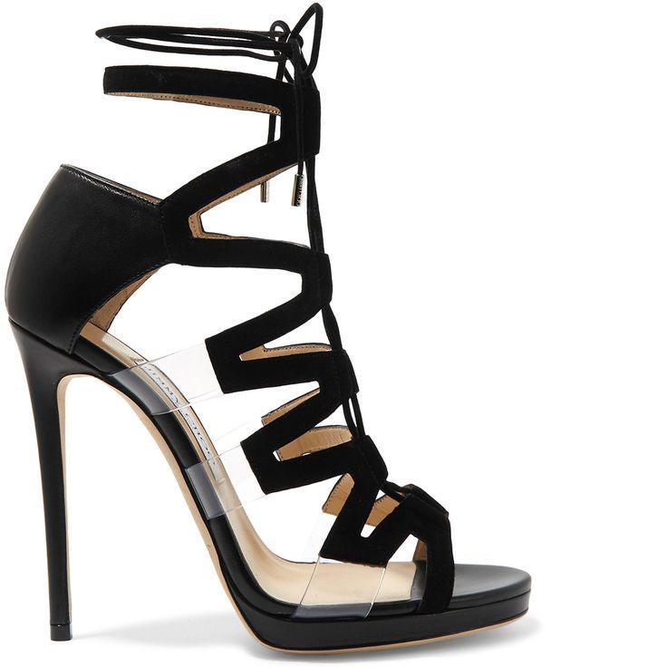 Jimmy Choo Dani PVC Lace-Up Sandals - Buy Online - Designer Ankle Wrap, Sandals