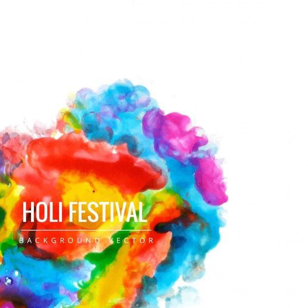 色とりどりの背景、ホーリー祭 無料ベクター