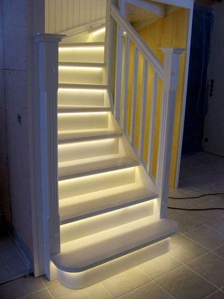 Slik monterer du LED-lys i trappen