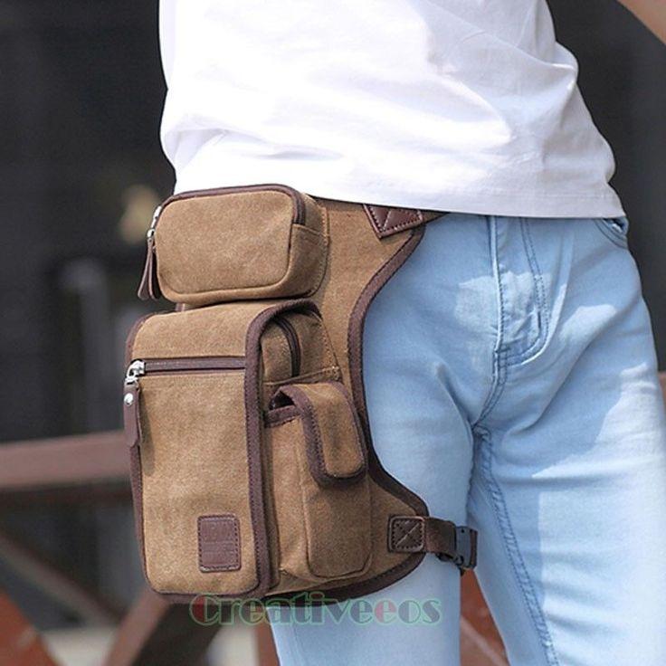 Bolsa de Lona para Hombre Cintura Pierna senderismo a caballo Moto militar táctico gota Fanny Pack | Ropa, calzado y accesorios, Accesorios para hombre, Mochilas, bolsos y maletines | eBay!