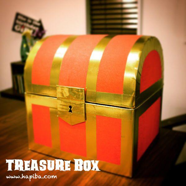 ファンタジーゲームなどの世界でよく見るキラキラしたあの宝箱を、いらなくなった段ボール箱をベースに作る方法を紹介します!|バースデークラフト作家ナベチンのハンドメイドでお祝いしよう!