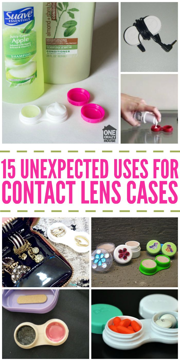I Never Knew There were so Many Uses for Contact Lens Cases. So Unexpected!