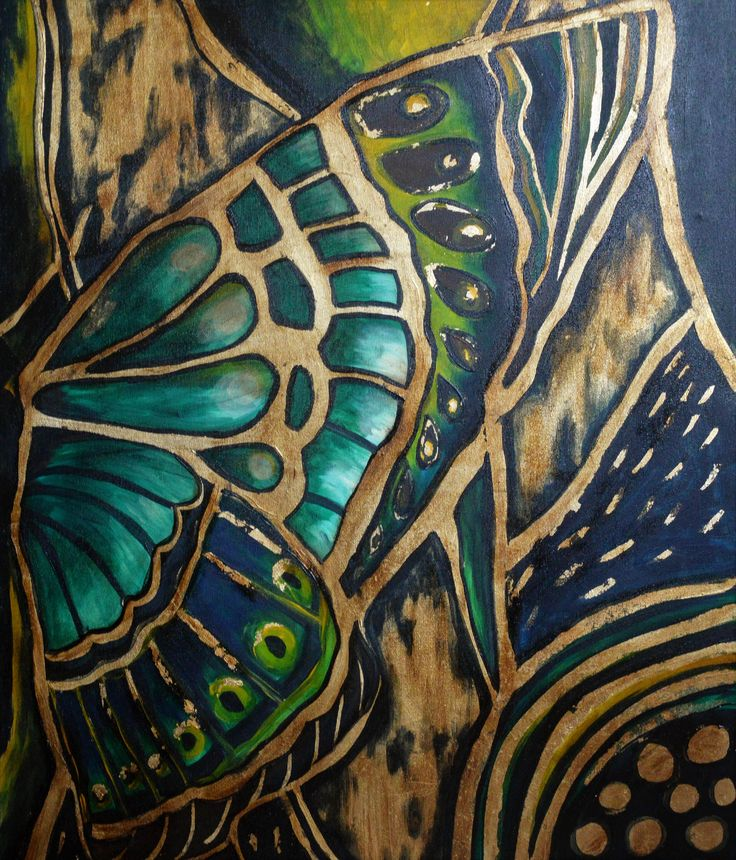 Butterfly gold 2 80x100