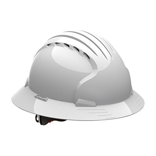 The Evolution Deluxe 6161 Full Brim Hard Hat is a true evolution of the long established MK2 and MK3 hard hats. It's shell is made of High Density Polyethylene (HDPE) and has many useful features. It comes with a 6-Point suspension system with polyester textile straps. The Chamlon sweatband...