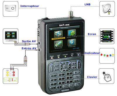 Mesureur de champ Satellite HD - écran LCD de 3,5 pouces