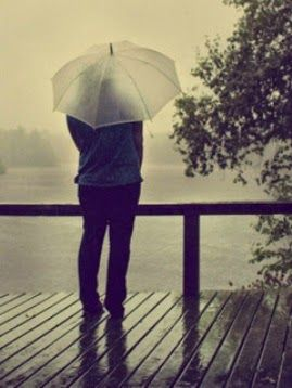 alone boy in rain images photo