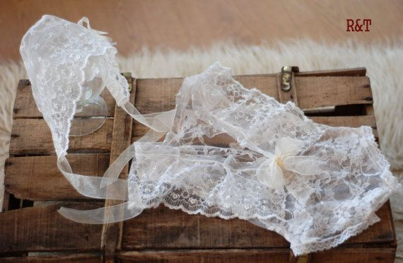 RTS Newborn romper for a girl + hat .newborn lace, lace romper, new romper, photography prop lace, newborn girl, photography…