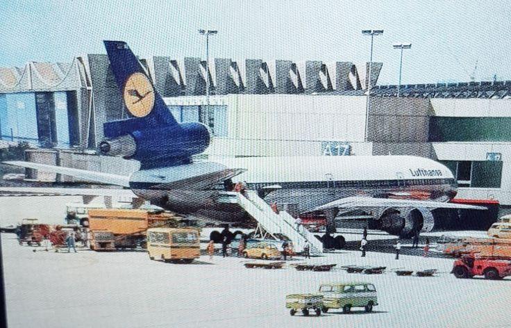 Lufthansa DC10 Flughafen Düsseldorf 1986 Flughafen