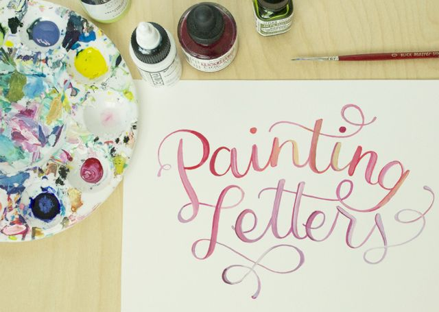 alisaburke: lettering with makewells: painting letters