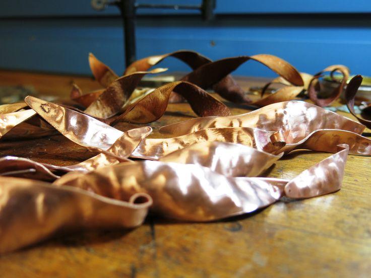 Working progress copper enamel pendants. Autumn 2016