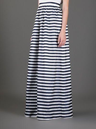 Gonne lunghe - Modello a righe bianche e nere