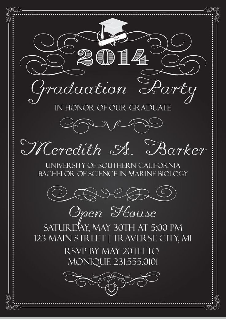 49 best Graduation Invitations images on Pinterest | Graduation ...