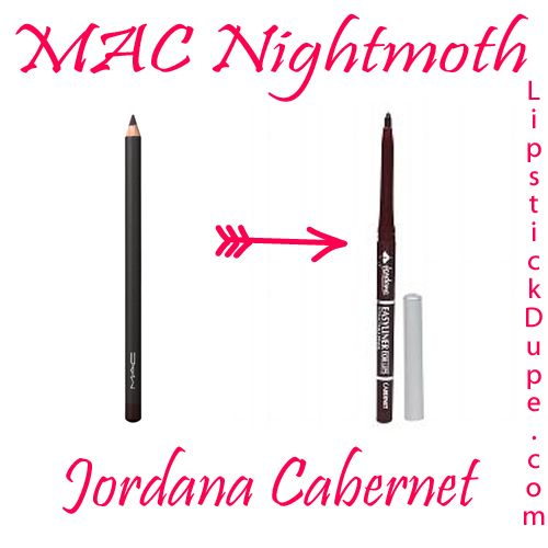 MAC Nightmoth Dupe Jordana Cabernet @lipstickdupe from lipstickdupe.com