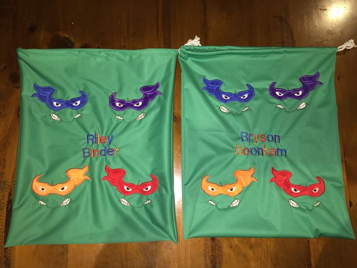 TMNT library bags