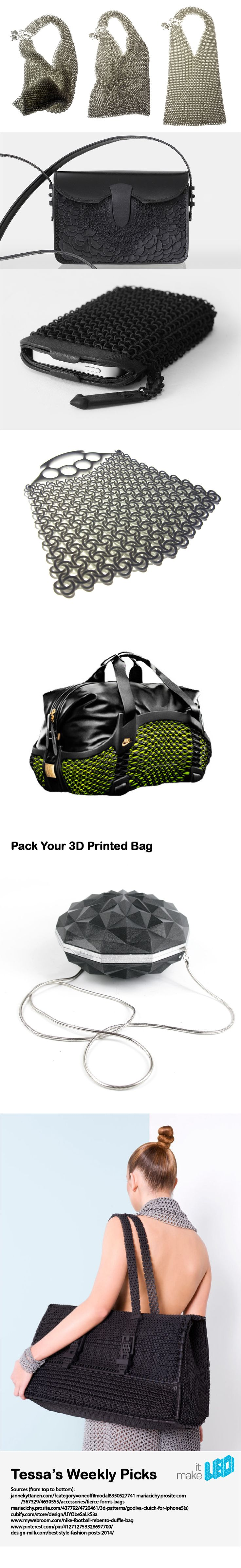 How to carry around your stuff? 7 3D printed bags worth bringing along.