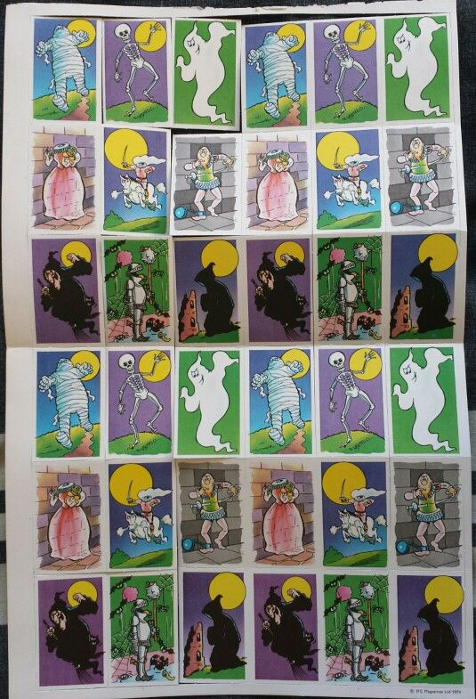 Spooky Snap Cards free gift from Whoopee! Comic no.3 March 23rd 1974.