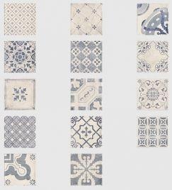 Parisian Chic Decor Mix Floor Tile 20x20cm