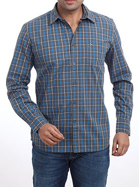 Walk with pride by wearing this sports casual shirt from Parx. The shirt makes a bold fashion statement when you wear it along with a matching pair of trousers. This medium blue colored shirt is specially designed for people who are sports fans. It features a slim fit design full sleeve design and a semi cutaway collar. It is manufactured by using superior quality cotton to give the utmost level of comfort even in the extreme climatic conditions. You can wear this to your club parties and…