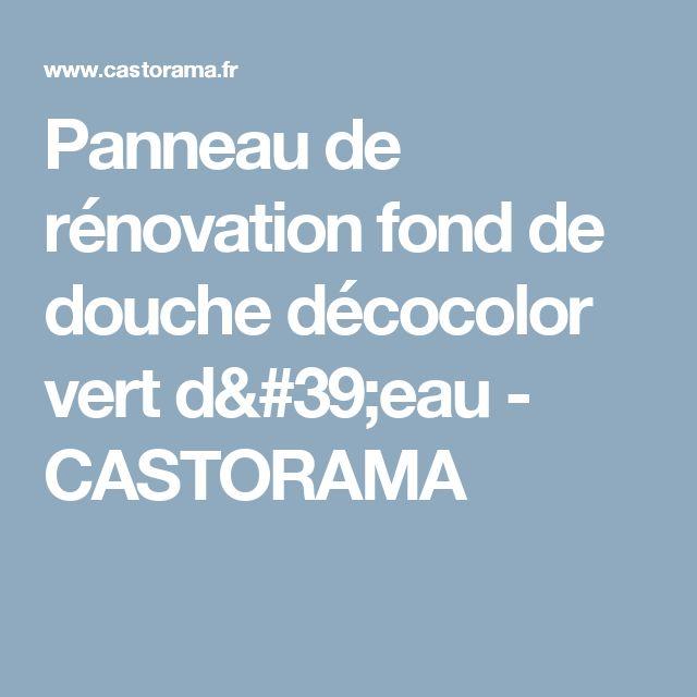 Panneau de rénovation fond de douche décocolor vert d'eau - CASTORAMA