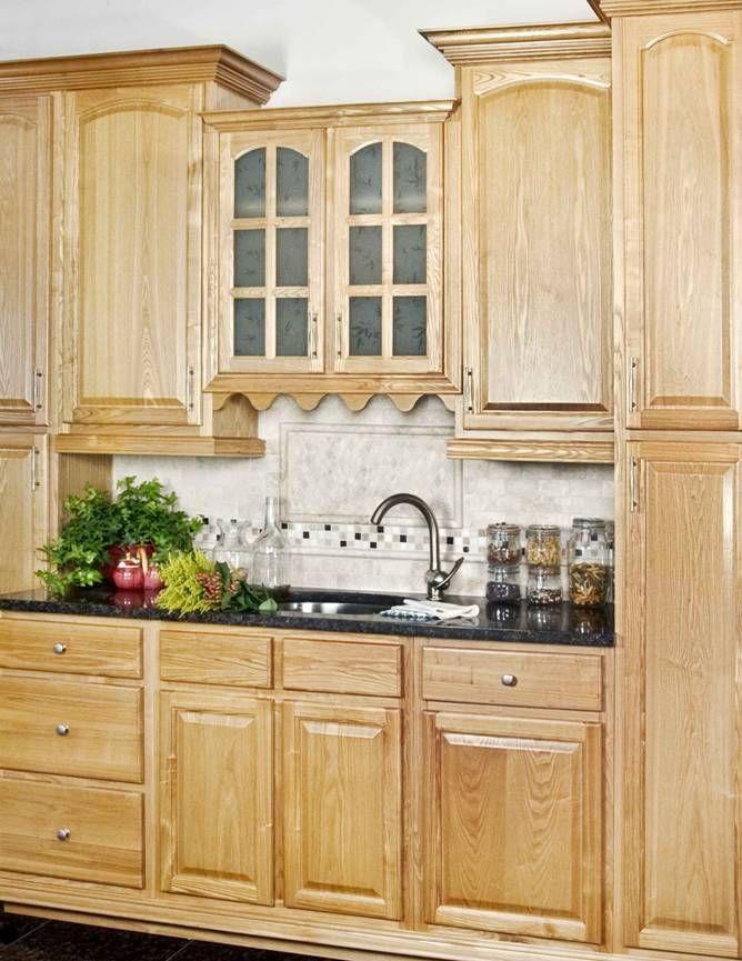 Granite Kitchen Countertops With Oak Cabinets