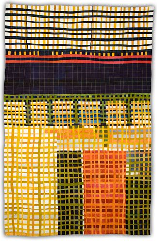 Two combinations I am a sucker for: orange & green, architectural structure & improvisational piecing ( via http://jbe200quilts.tumblr.com/)