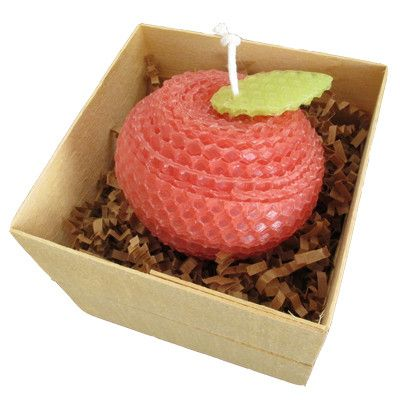 Apple Beeswax Candle