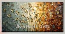ücretsiz nakliye el yapımı doku büyük soyut yağlıboya modern tuval sanat dekoratif bıçak çiçek resimleri duvar dekor(China (Mainland))