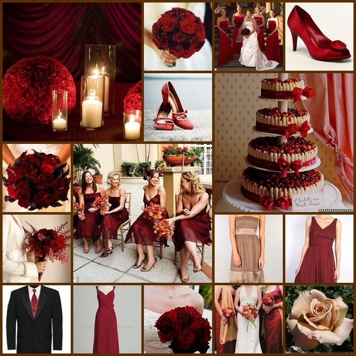 Champagne And Red Wedding Ideas | The sexy red peep-toe shoes are from Ann Taylor. The red patent ...